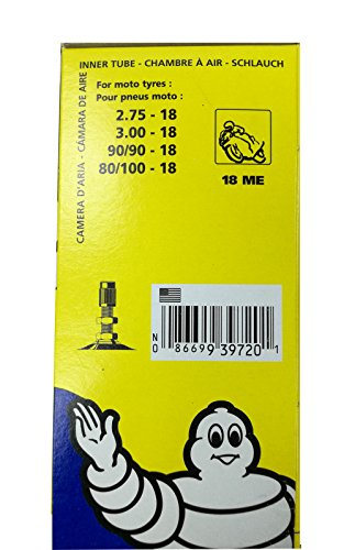 Chambre ari moto Michelin 18 ME Valve TR4 (2.75-18, 3.00-18, 80/100-18, 90/90-18)