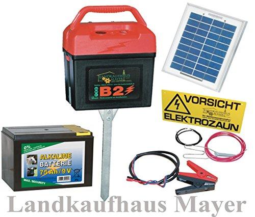 Landkaufhaus Mayer Weidezaungerät 9V 12V 230V inkl. Batterie und SOLARMODUL!!! Weidezaun