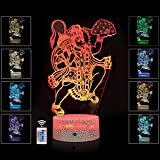 RMOR 3D Illusion Night Light Lord Hanuman Statue Best Gift Idea Diwali for Friends & Family-Cool Home Office Bedroom Decor with Touch Sensor 16 Color Mode (Lord Hanuman)