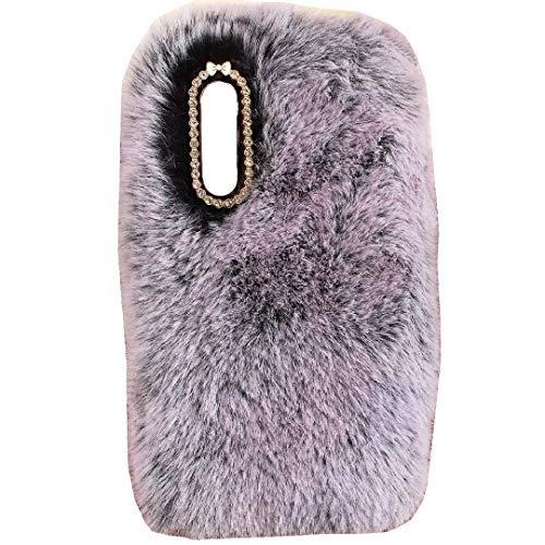 TAITOU - Funda para Huawei Y8P 2020/P Smart S Art hecha a mano de lana esponjosa con cola de bola de invierno cálida y suave, diseño especial y ligero para Huawei P Smart S, color negro