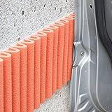 Wall Bumper Leggero Design | Parachoques de garaje para proteger las puertas del automóvil | Juego de 2 tiras adhesivas amortiguadoras, repelentes al agua | Cada ≈ 17 cm x 1.35 m. Color naranja