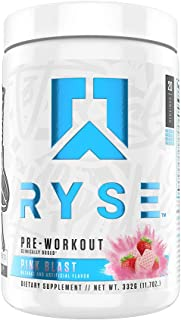 Ryse PRE Workout | Ryse Up Supplements | Fuel Your Greatness | Energy, Endurance, Focus, Next Level Pump, Citruline, Tauri...