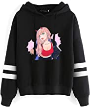 Peoria Darling in The FranXX: Zero Two Hooded Hoodie, Anime Sweatshirt with Front Pocket for Girls and Women