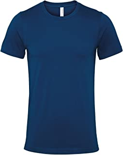 Bella Canvas Mens Jersey Crew Neck T-Shirt Short Sleeved Fashionable Casual Top