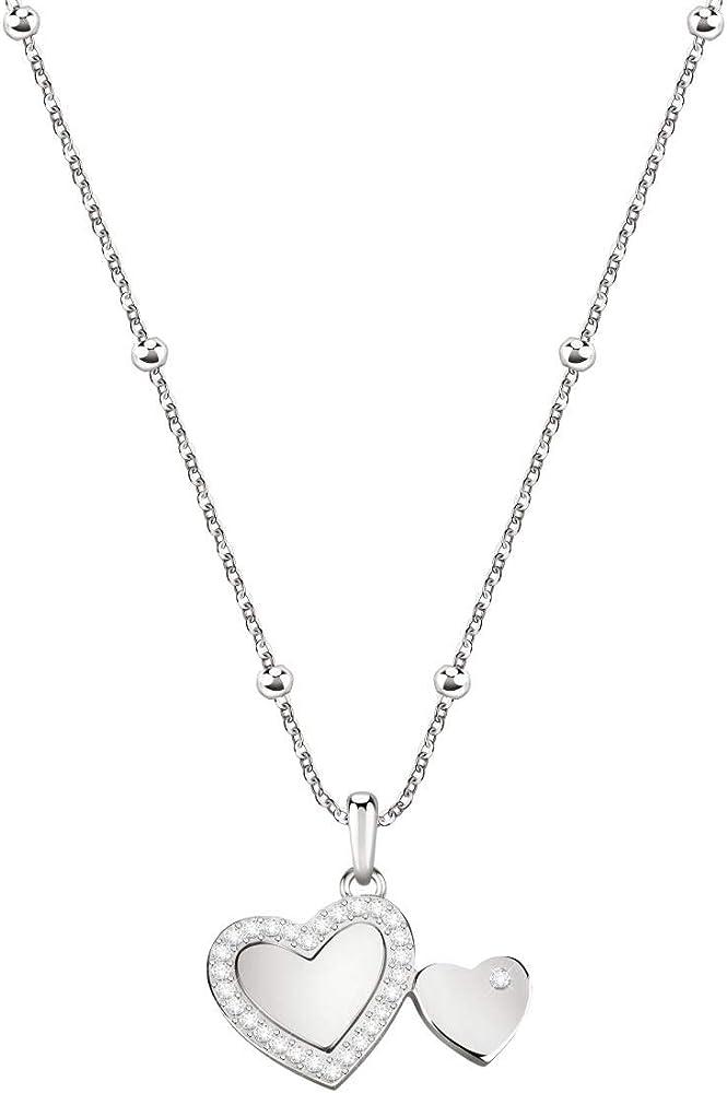 Morellato collezione love collana da donna in acciaio, cristalli 8033288901747