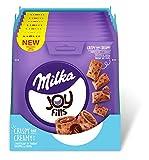Joyfills Milka – Luftig-lockere Knabberei mit knuspriger Kekshülle und softer Füllung aus Milka Alpenmilchschokolade – 90g