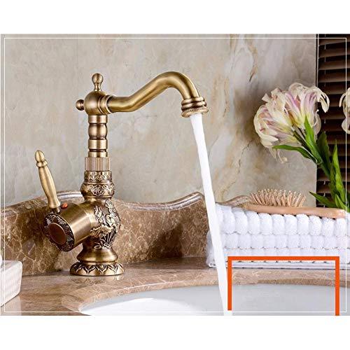 TYOLOMZ Antike Becken Wasserhähne Geschnitzten Wasserhahn Bad-Accessoires Messing Swivel Vintage Heißen Und Kalten Mixer Waschbecken Wasserhähne Classic Tap
