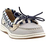 Sperry Top-Sider Angelfish Stripe Boat Shoe Women 6.5 Grey/Blue