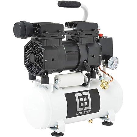 ONE STEP エアコンプレッサー オイルレス 静音タイプ 100V大容量 9L 30L 50Lタンク 0.8MPaパワフル圧力 車空気入れ エアスプレー 塗装用 吐出量が多い 振動少ない DIY ・セミプロ向けモデル用 業務用 (30L)