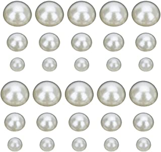 Healifty 600 peças cabochões de pérolas DIY miçanga de meia pérola para joias faça-você-mesmo artesanato decoração de unha...