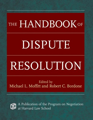 Compare Textbook Prices for The Handbook of Dispute Resolution 1 Edition ISBN 9780787975388 by Moffitt, Michael L.,Bordone, Robert C.