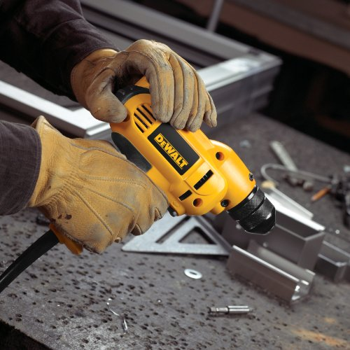Product Image 5: DEWALT Corded Drill, 8.0-Amp, 3/8-Inch, Variable Speed Reversible, Mid-Handle Grip (DWD115K )