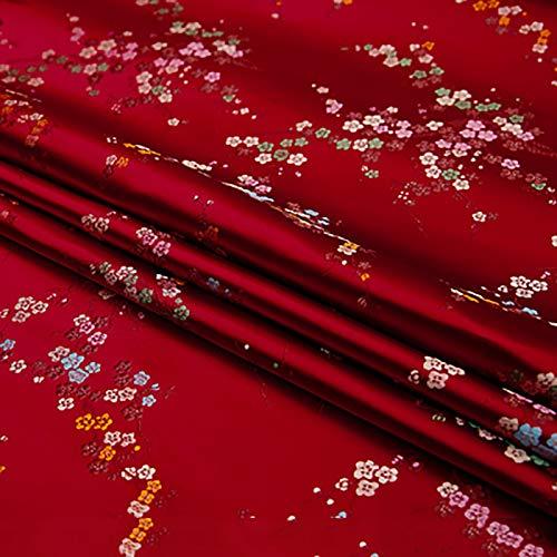 MUYUNXI Tela De Raso Forro De Tela para Vestidos De Novias Fundas Artesanías Vestidos Blusas Ropa Interior 114 Cm De Ancho Vendido por 5 Metro(Color:Dátiles Rojos)