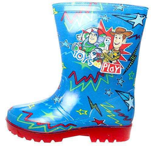 Disney Pixar Toy Story 4 Toys at Play Boys Wellies Blue UK 11 Kids