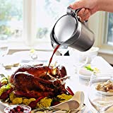 BETTERLE Premium Edelstahl Sauciere, Doppelt Isoliert Eleganter Silberner Thermo Sauciere Soßenkanne Perfekt für Abendessen Partys (750ml) - 3