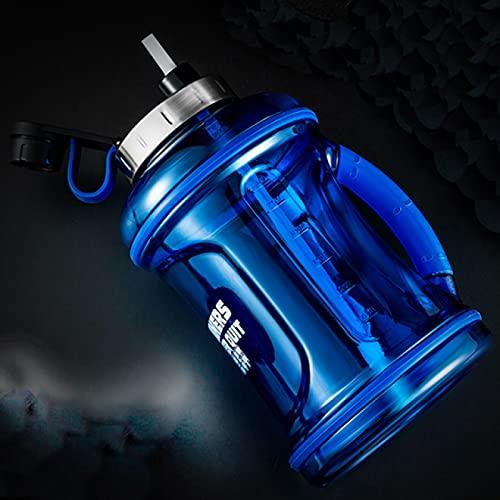 Overvloedi Botella de agua deportiva de 2000 ml y 3200 ml botella de agua grande, coctelera a prueba de fugas, para viajes al aire libre, sin BPA, portátil tristan Bblue3200ml