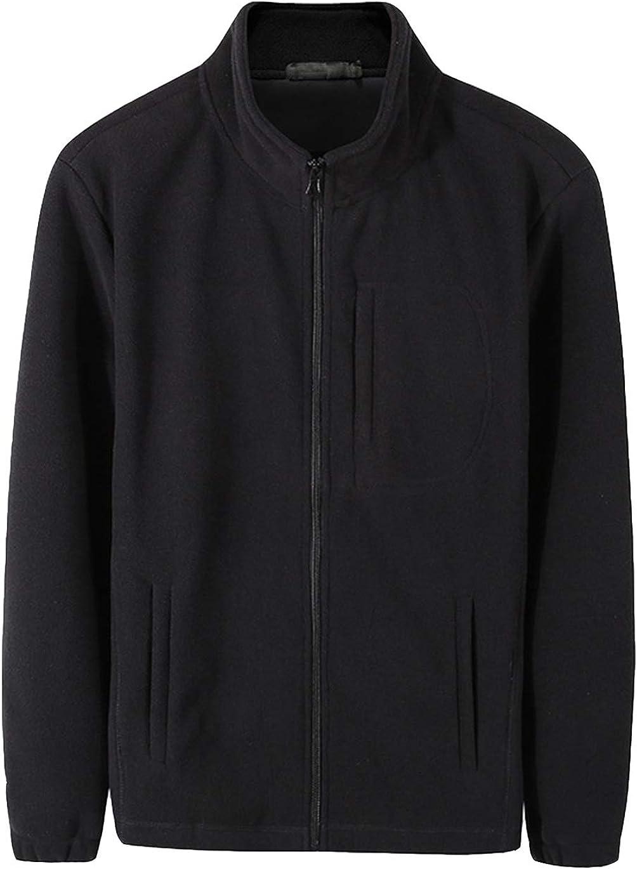 Haellun Men's Full Zip Soft Fleece Jacket Polar Warm Winter Outdoor Lightweight