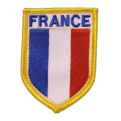 Gestickter Aufnäher Bügelbild Patch Aufbügler Iron on Applikation (1, Flagge Frankreich)