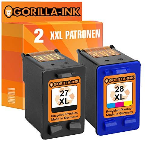 Gorilla-Ink 2 Druckerpatronen für HP-27XL & HP-28XL | 1x Black 20ml