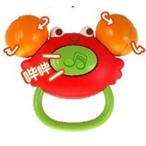 AUBY 澳贝 婴幼儿小蟹摇铃 463139 带牙胶(不同颜色随机发放)