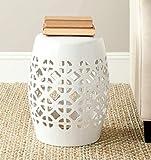 Safavieh Circle Lattice Ceramic Decorative Garden Stool, White