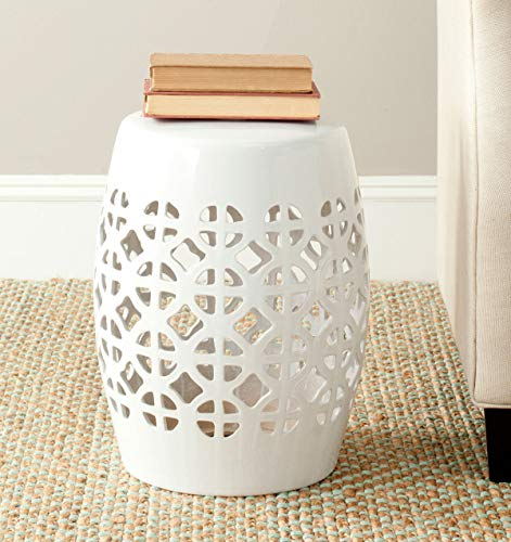 Safavieh Castle Gardens Collection Circle Lattice Ceramic Garden Stool