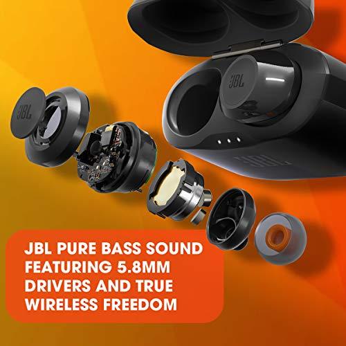JBL JBLT120TWSBLKAM Tune T120TWS True Wireless, in-Ear Headphone -Black