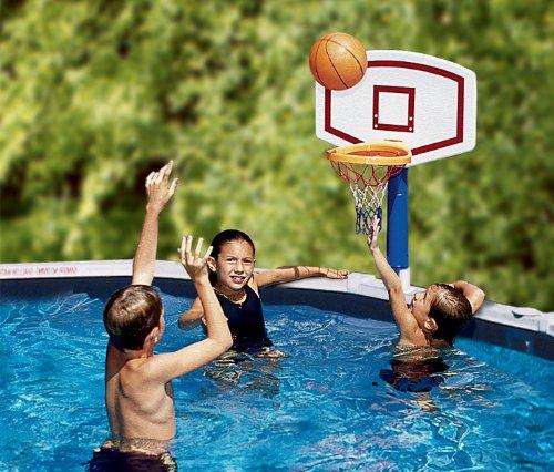 Swimline Jamming Basketball Game For Above Ground Pools White, One Siz