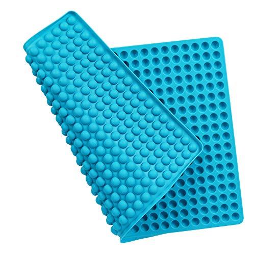 Zorara Silikon Backmatte, Mehrzweck Silikonmatte Backen für Backofen, Backunterlage 1cm Halbkugel Backform Teigmatte Mini Hundekekse, Hitzebeständig & Lebensmittelecht, Bpa-frei (Blau)