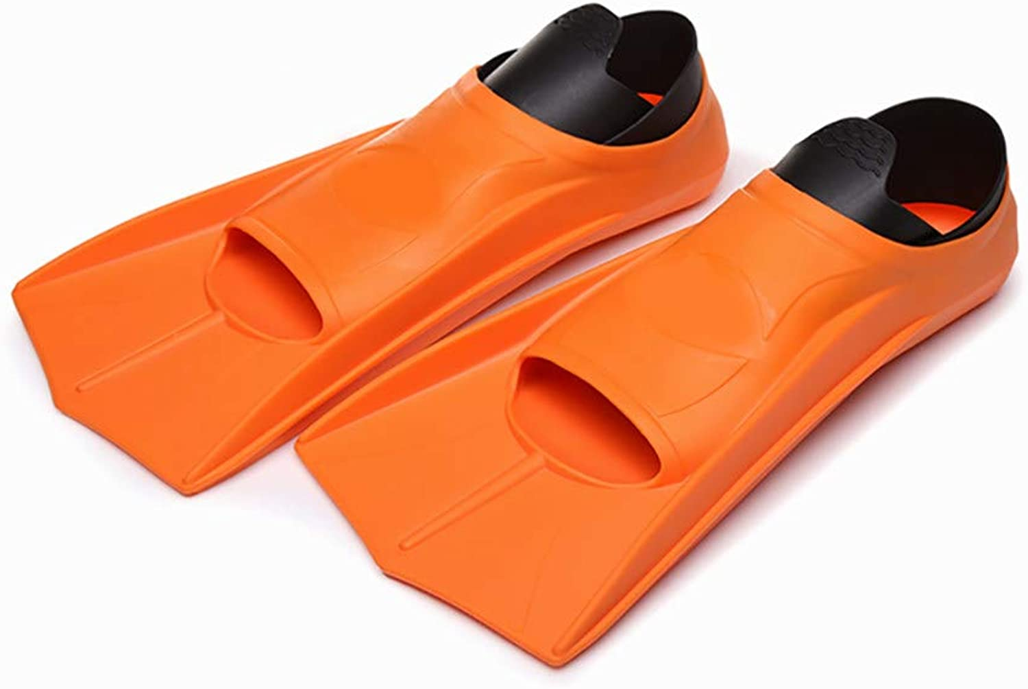 Snorkel Fins for Kids,Snorkeling Short Fins, Kid Boys Girls Flippers, for Swimming,Snorkeling,Diving and Watersports,orangeXS