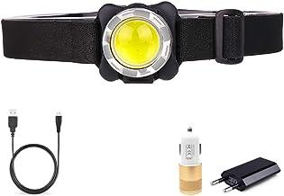 Hoofd Zaklamp 35000LM Koplamp USB Oplaadbare Koplamp COB LED Hoofd Licht met Ingebouwde Batterij Waterdichte Hoofd Lamp Wi...