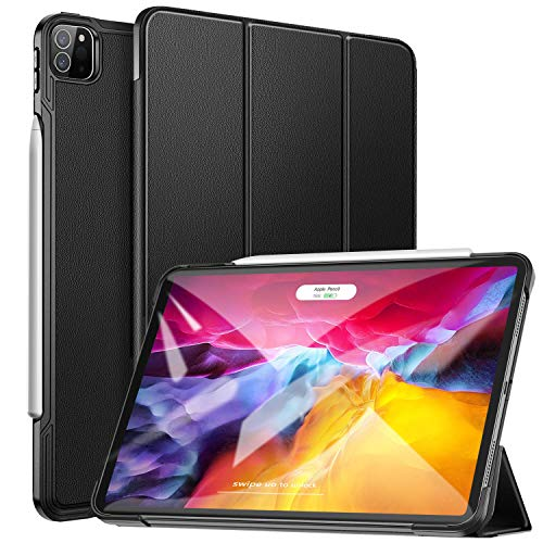 ZtotopCase Case for New iPad Pro 11 2020 Release(2nd Generation), Slim Lightweight Trifold Stand Smart Folio Case Hard Cover with Auto Sleep/Wake for iPad Pro 11 Inch 2020 - Black