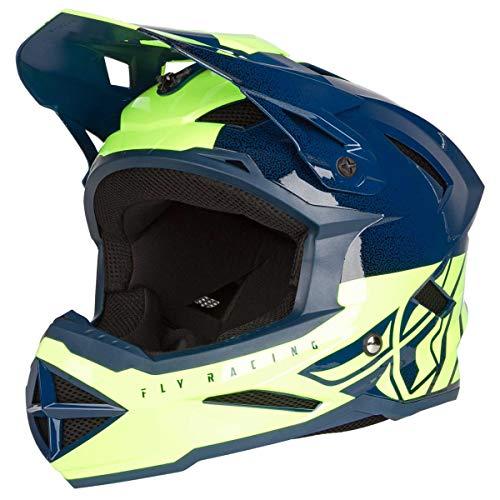 Fly Racing 2019 Erwachsene Standard Deither MTB Downhill BMX Helm – Blaugrün/Gelb XL