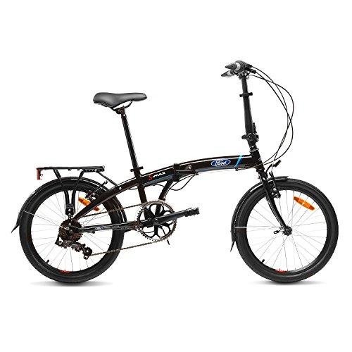 "Ford S-Max Bicicleta Plegable, Unisex Adulto, Negro, 20"""