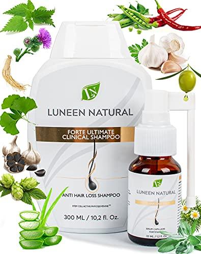 Anti-Hair Loss Shampoo 300ml & Hair Growth Serum 33ml Natural Hair Growth...