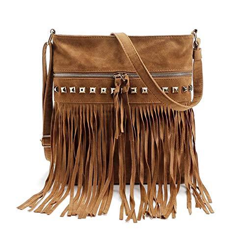 Oyccen Damen Quaste Umhängetasche Lässige Handtasche Schultertasche Messenger Cross Body Tasche