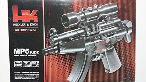 HECKLER & KOCH Softair MP5 Kidz DP mit Maximum 0.08 Joule Airsoft Gewehr, Schwarz, One Size
