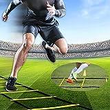 Agilité Ladder Speed Ladder Training Ladder, Football, Fitness, Sport, Handball, Soccerfor, Sports de Plein air de Formation avec Sac fourre-Tout Noir ZZAY (Size : 10m20)