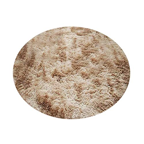 Fine Ultra Soft Indoor Modern Area Rugs,Warm Hairy Wool Carpet Seat Pad Fluffy Area Rug for Living Room Bedroom Home Decor (Khaki)
