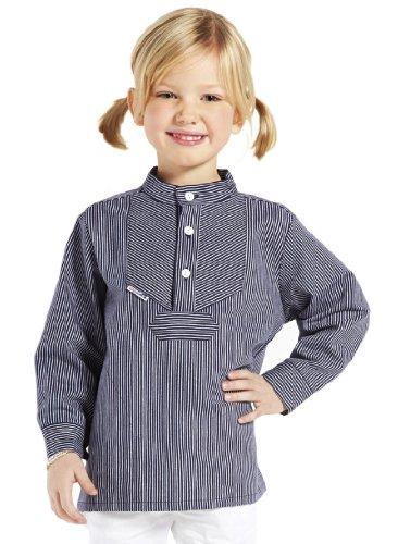 Farbe:Azur//wei/ß AS Bekleidungswerk GmbH Modas Sommer Kinder Fischerhemd Kurzarm Gr/ö/ße:134