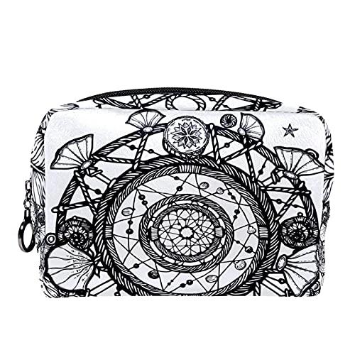 Custodia cosmetici viaggio portatile organizer borse il trucco cacciatore di sogni Cerniera grande tasca portaoggetti