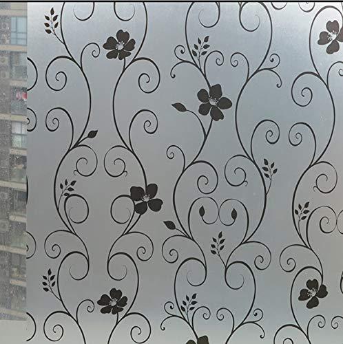 Película para Ventanas de privacidad Opaca esmerilada Pegatina de Vidrio autoadhesiva electrostática película Decorativa de Vidrio para Puertas y Ventanas para el hogar K 50x200cm