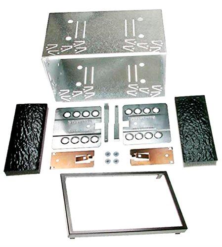 carav 14-003 Doppel DIN Autoradio Einbaurahmen Metall Schacht universal 2-DIN 180x103mm