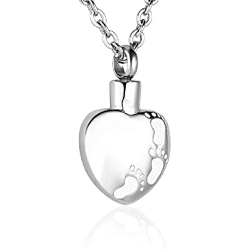 Heartfelt Dad Square Cremation Jewelry Necklace Urn Memorial Keepsake Pendant for Ashes with Funnel Fill Kit