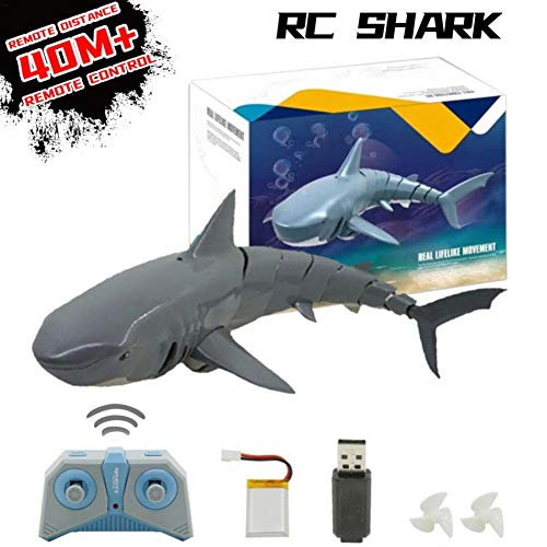 winnerruby RC Boot, [2020 Aufgerüstet], Rc Shark Boot Für Wasser, Seen, Pool, Badewanne, 2.4G Wasserdichtes Ferngesteuertes Fischspielzeug Für Kinder Geschenk