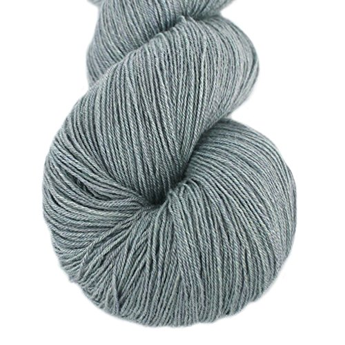 Lotus Yarns Lace Weight 1 Skein Cashmere Knitting Yarn Comfortable Soft Crochet Yarn Great for Baby Garments, Scarves, Hats, and Craft Projects (05-Grey)