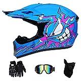 RAON Caschi da Moto Motocross & Guanti E Occhiali Casco Go Go Kart,S(52~53cm)