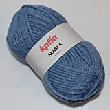 Lanas Katia Alaska Ovillo de Color Azul