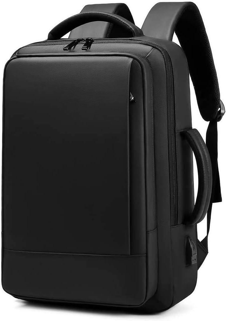 Kamlui Laptop Backpack 15.6 Inch - Multi-Functional with USB Charging Port large Capacity Men Women Nylon Waterproof Shoulder Messenger Tote Briefcase,for Travel leisure Business Hand held Cross Body Computer Backpack Bag,(Black)
