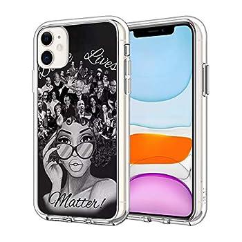 iPhone 12 Mini Case Black Lives Matter Pattern Clear Design Transparent Plastic Back Case Cover Explosion-Proof